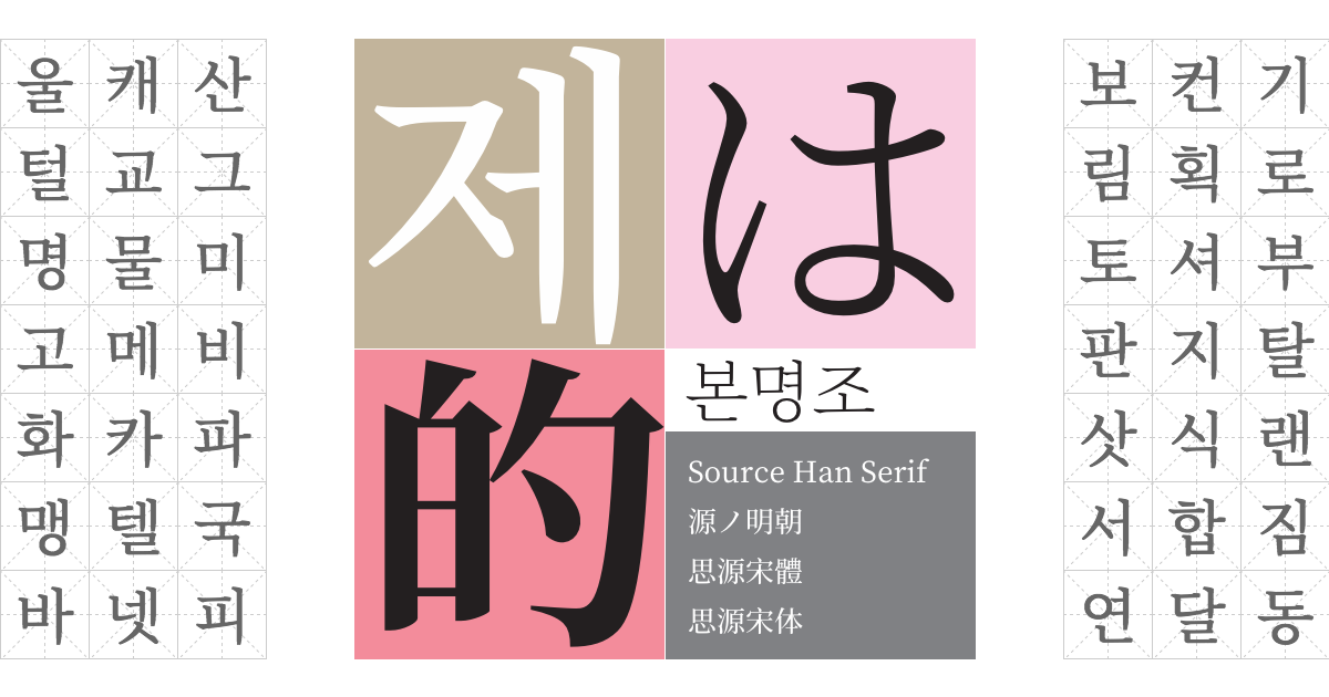 Source Han Serif Available on Typekit for web use and desktop sync